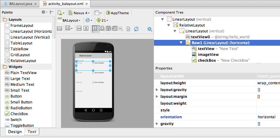 Android Layout tool