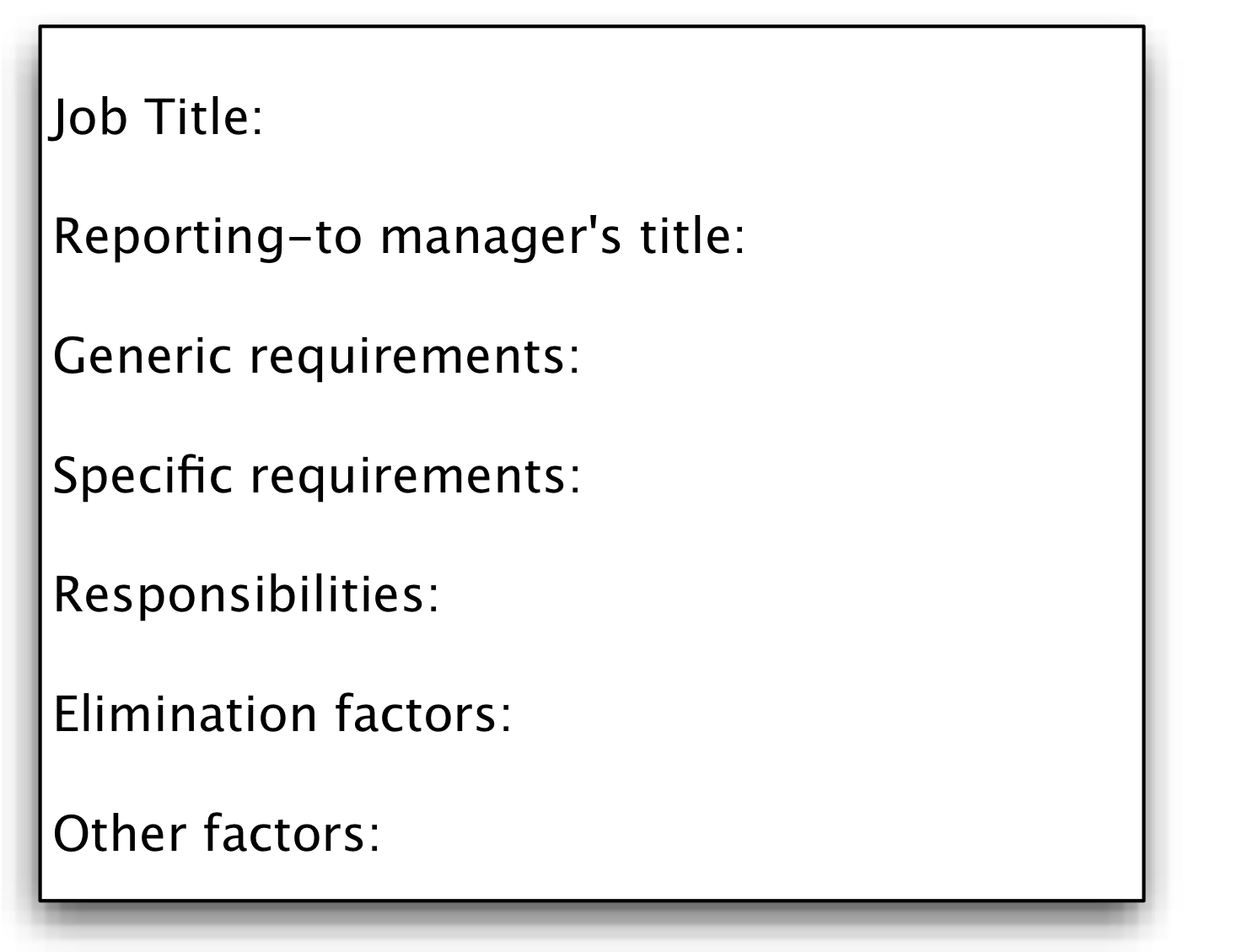 appendix a templates to use when hiring geeks that fit hiring