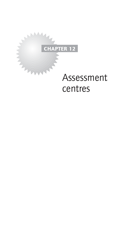 Chapter 12 Assessment centres