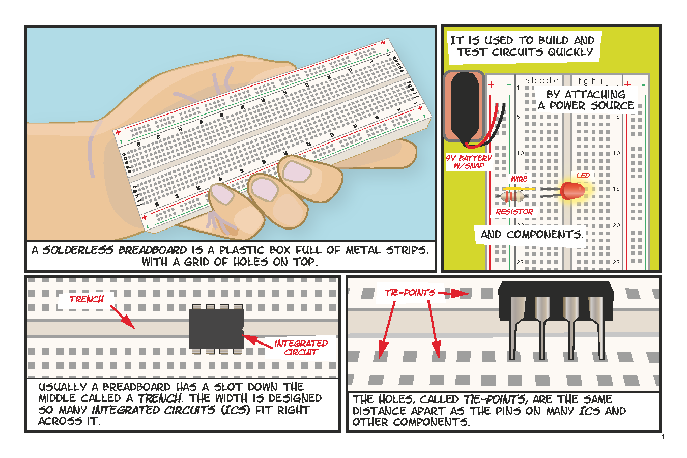 How To Use A Breadboard Book Circuit Diagram Using Page 1