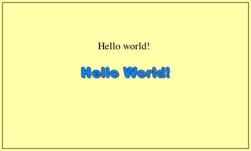 HTML5 Canvas Hello World!