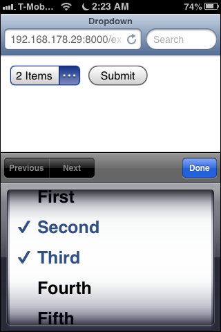 Using multiple-choice select lists