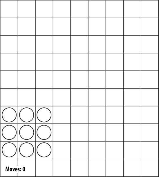 Starting position of a Halma game