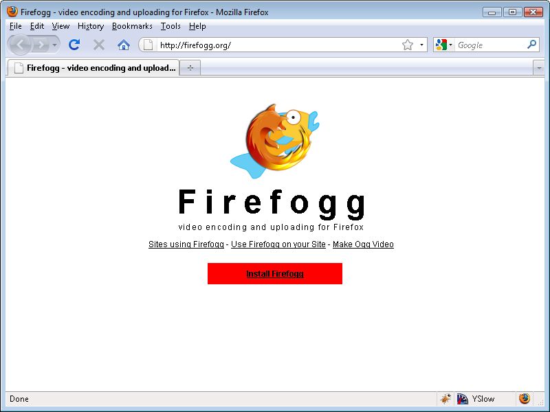 Encoding Ogg Video with Firefogg - HTML5: Up and Running [Book]