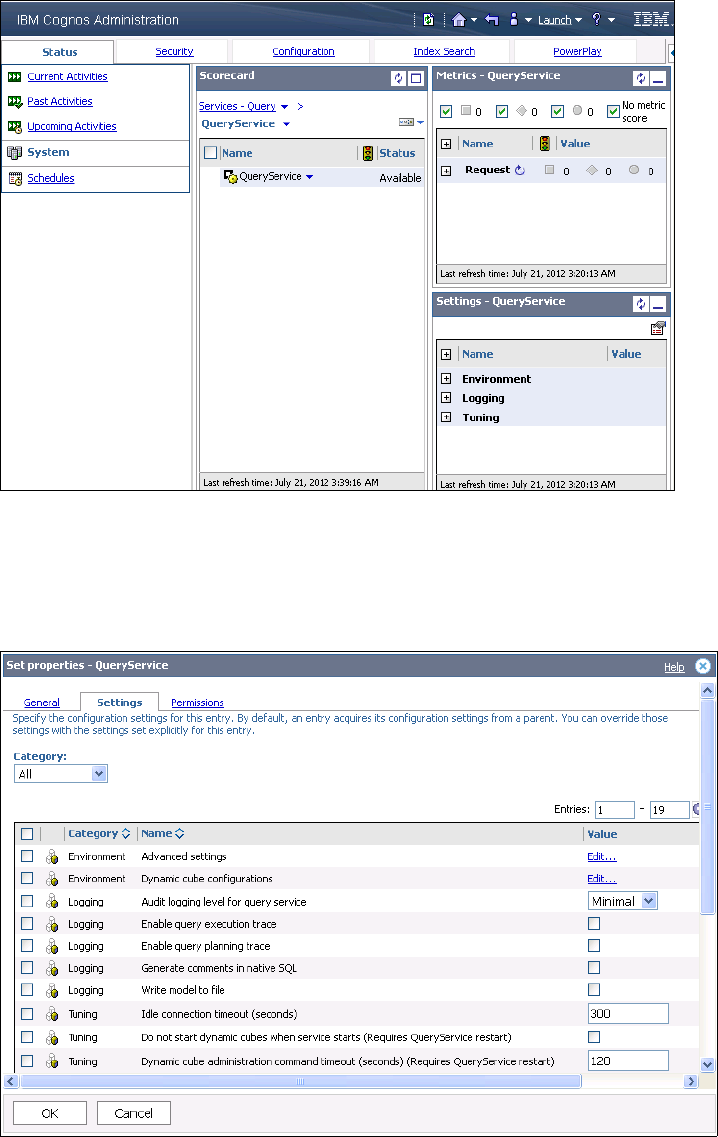 Adding and removing cubes from the QueryService - IBM Cognos