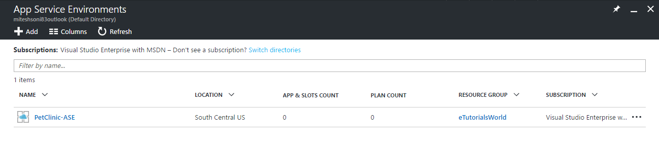 ASEs - app service plan - Implementing DevOps with Microsoft