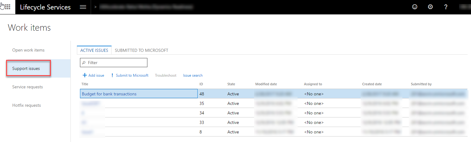 issue tracking implementing microsoft dynamics 365 for finance and