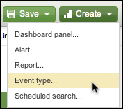 Using event types to categorize results