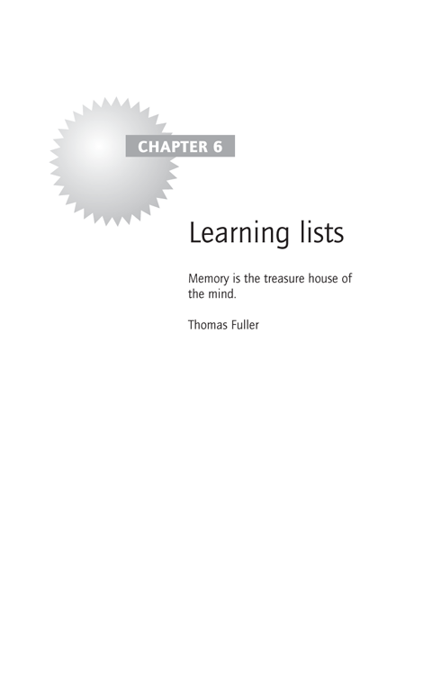 Chapter 6 Learning lists