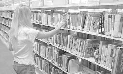 Browsing in a library (image courtesy of )