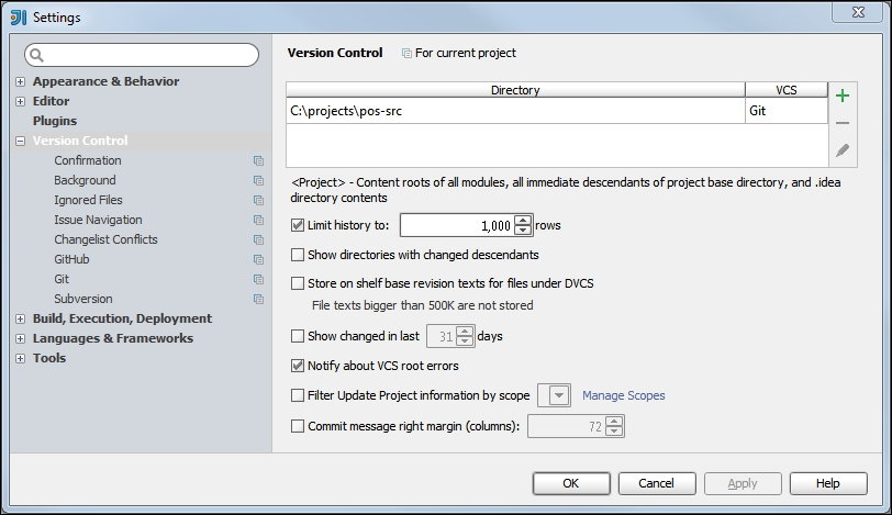 Configuring version control