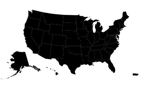 The USA, scaled and centered within the image