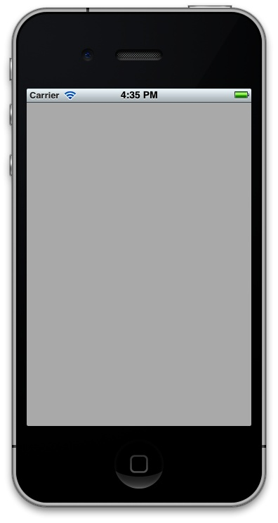 An empty Single View Application running on iOS Simulator
