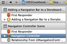 Selecting the navigation controller in Interface Builder