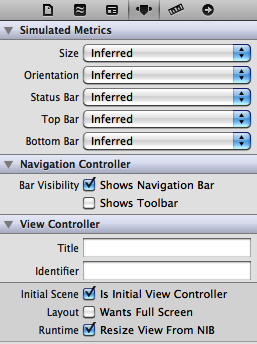 Selecting a navigation controller as the initial view controller of a storyboard