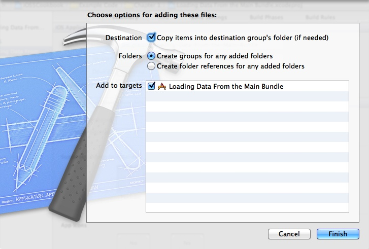 Xcode asking which project a file has to be added to
