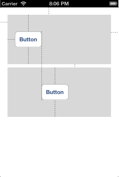 The important cross view constraints between two buttons are depicted in this photo