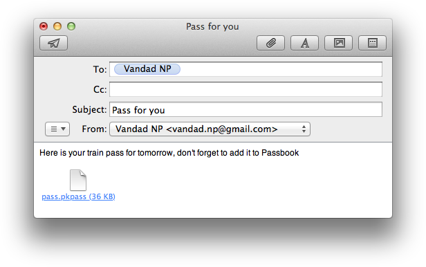Distributing digitally signed passes using Mail.app on OS X