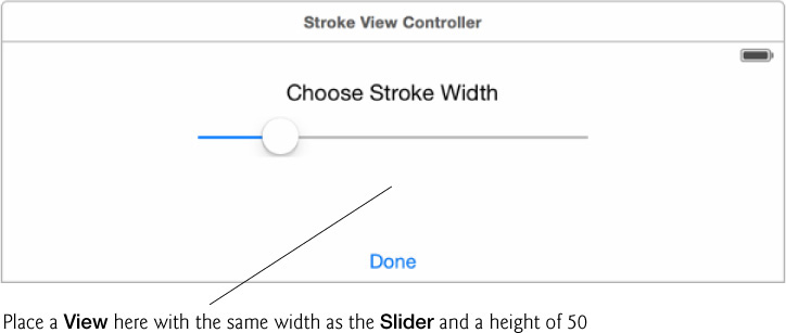 7 4 4 Creating the Stroke View Controller's User Interface - iOS® 8