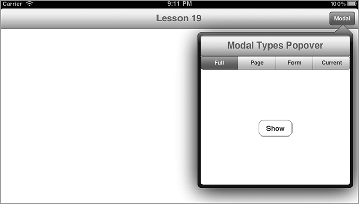 Chapter 19 Popovers And Modal Views Iphone And Ipad App 24 Hour Trainer Book
