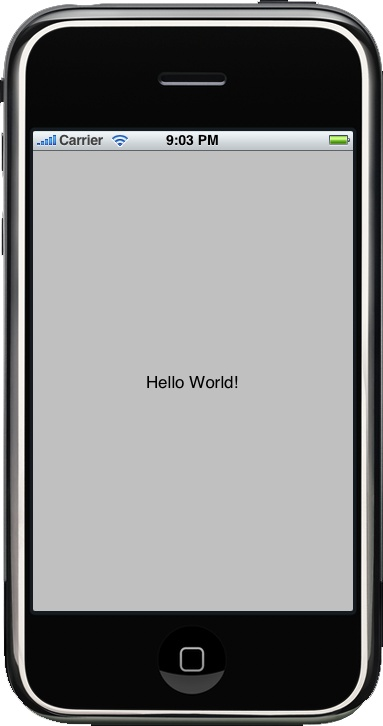 """Hello World!"" text with Label object"