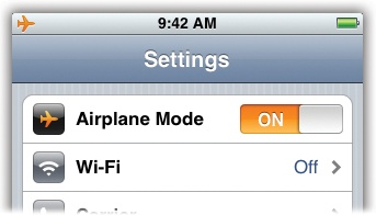 Turning Off The Antennas And Airplane Mode Iphone The Missing Manual Book