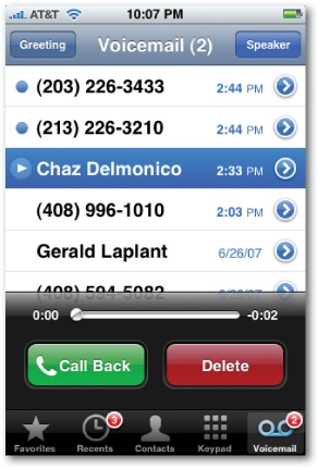 voicemail to text apple iphone
