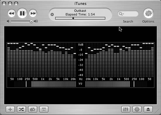 iTunes LED—looks like an old-school amp, but it's iTunes!