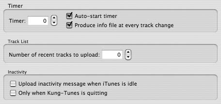Timer settings in the Kung-Tunes Preferences dialog