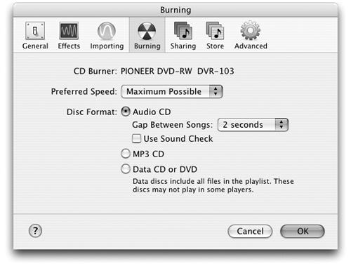 Burning a CD or DVD - iPod & iTunes: The Missing Manual, Second