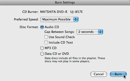 Three Kinds of Discs You Can Create with iTunes - iPod: The