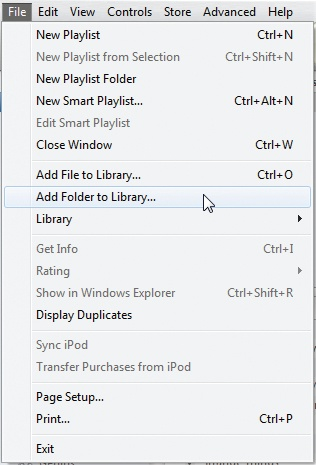how to add one song to folder in ityunes