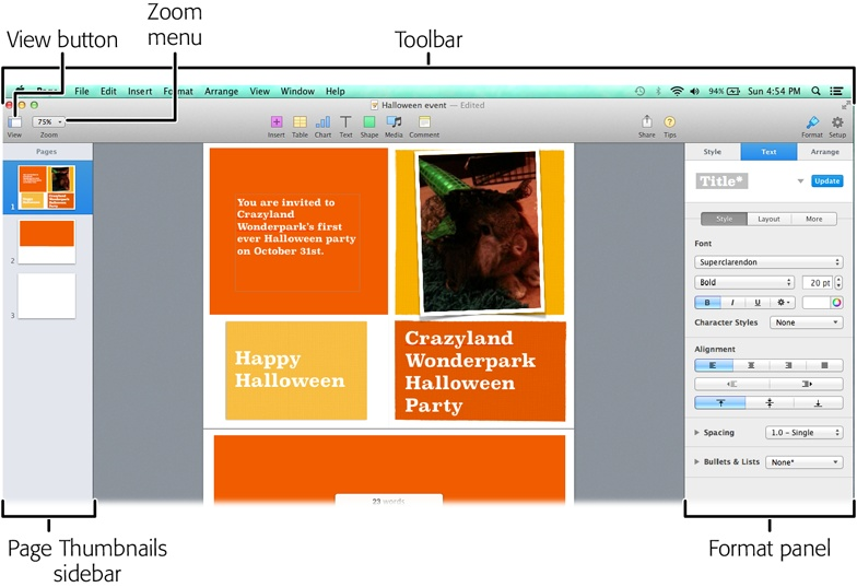 1. Creating a Pages Document - iWork: The Missing Manual [Book]