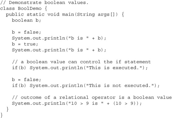 The Boolean Type Java A Beginner S Guide 5th Edition