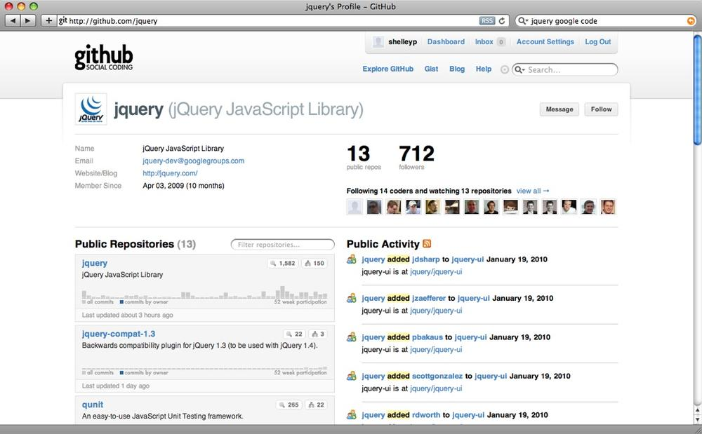 The github page for the jQuery library