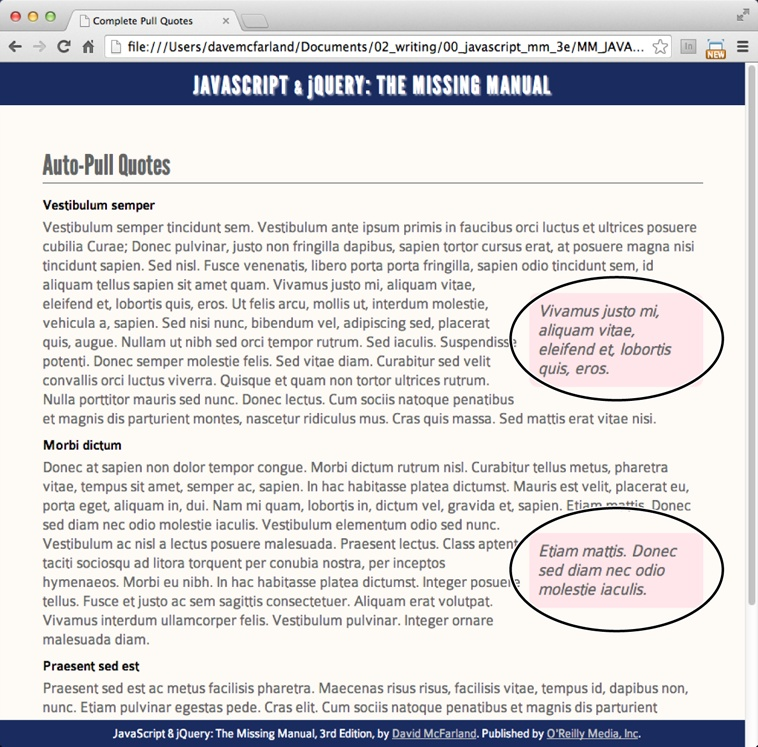 4  Introducing jQuery - JavaScript & jQuery: The Missing Manual, 3rd