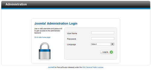 Time for action — log in to the backend