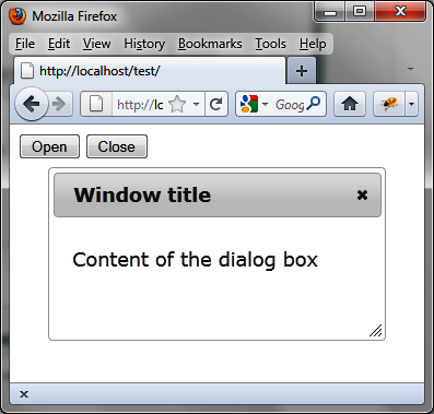 Examples of Using Dialog Boxes - jQuery UI [Book]