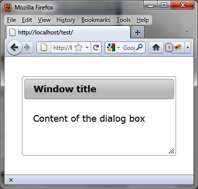 Dialog box without a close button