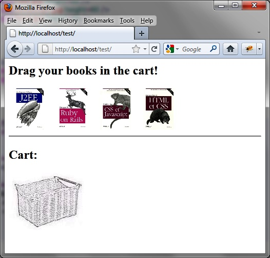 Examples of Using the Drop Functionality: A Shopping Cart