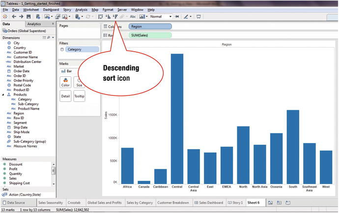 12  Sorting - Jumpstart Tableau: A Step-By-Step Guide to