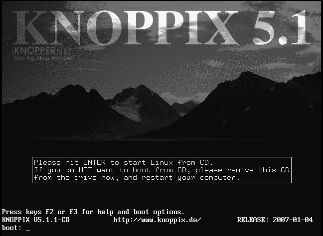 ISO TÉLÉCHARGER KNOPPIX