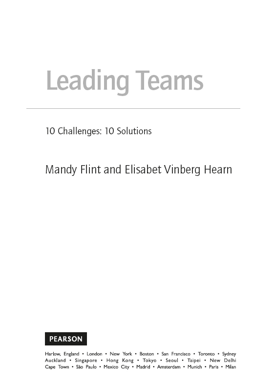 The Top 10 Challenges Of Special >> Title Page Leading Teams 10 Challenges 10 Solutions Book