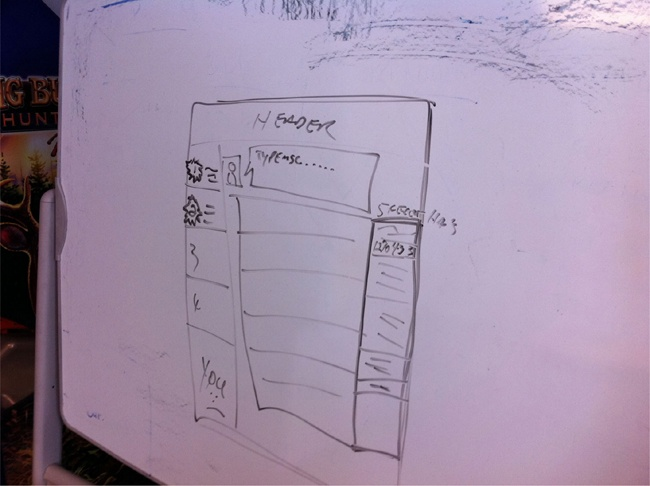 Whiteboard sketch that we arrived at together.