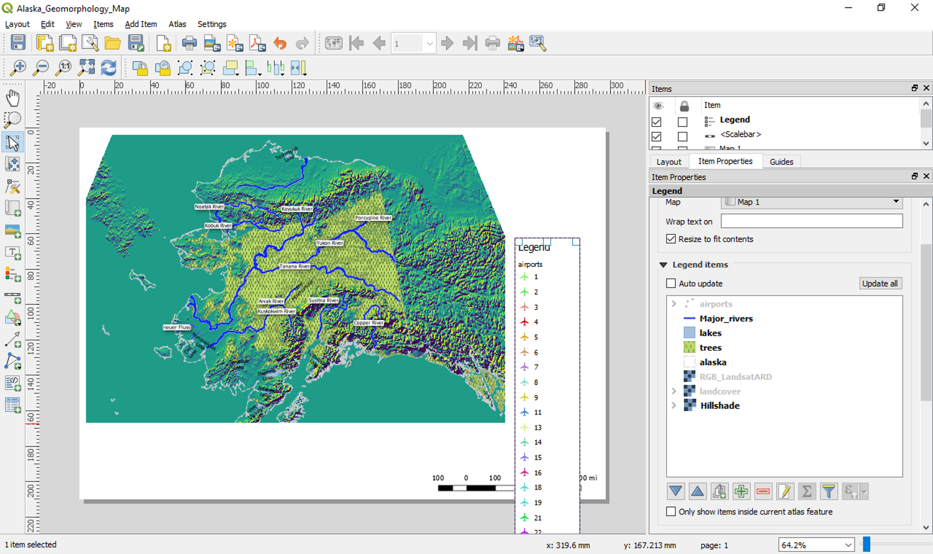 Adding layout items - Learn QGIS - Fourth Edition [Book]
