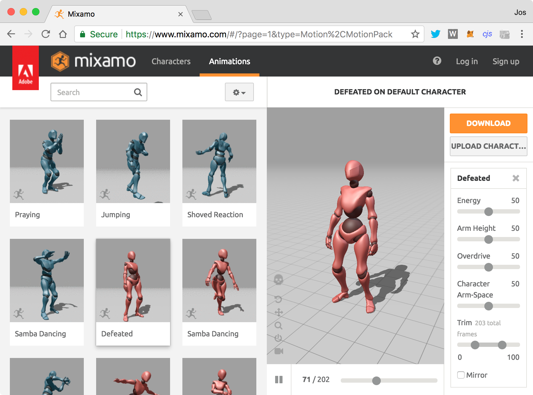 Visualize motions captured models using the fbxLoader - Learn Three