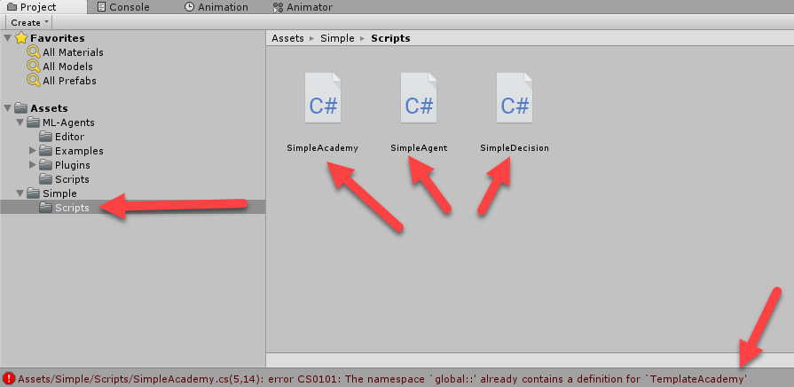 Renaming the scripts - Learn Unity ML-Agents - Fundamentals