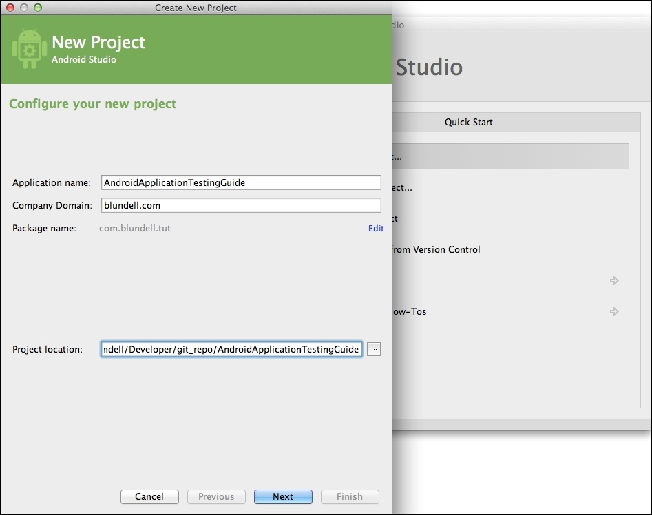 Creating the Android project