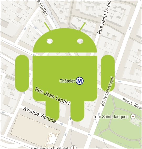 Using overlays - Learning Android Google Maps [Book]