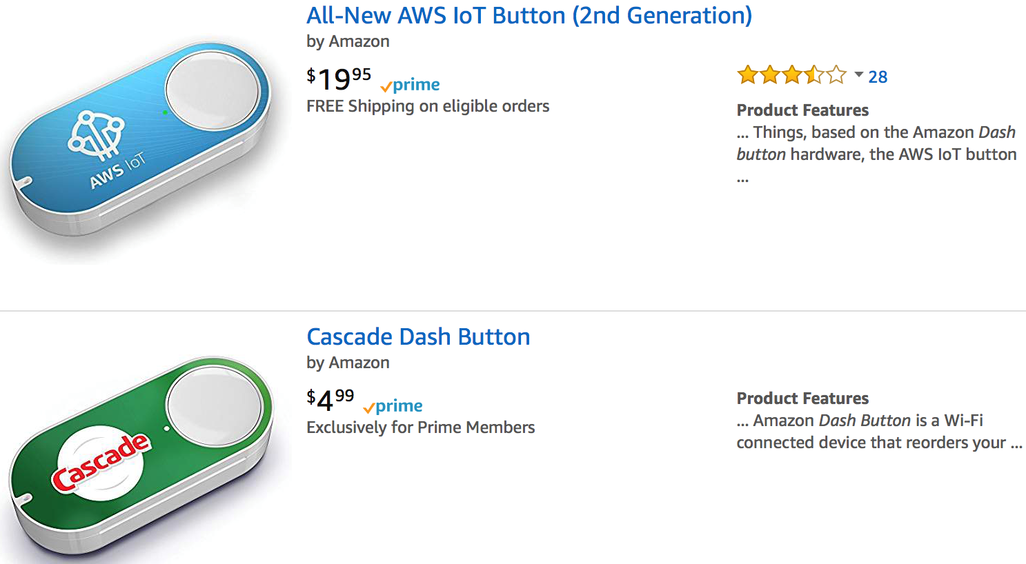 Reviewing a project scenario for AWS IoT Button - Learning